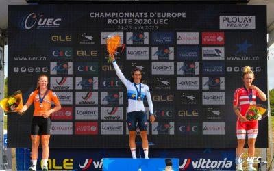Lonneke Uneken wordt 2e op EK in het Franse Plouay.